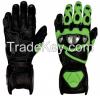Genuine cow hid leather gloves, Motorbike gloves, Racing gloves, Motorcycle gloves, Gauntlet gloves, Custom gloves 2015