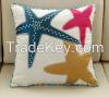 Poly applique stars high quality designer handmade cushion cover