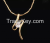 18k gold plated necklace with discount price