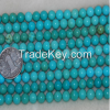 "16"" inches 8mm Round Natural Loose Turquoise Strands"