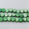 """16"""" 10mm Green Round Loose Shell Strand"""