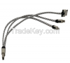 Sell 3-in-1 braid USB Charger Cable Designed for All iPhones, iPads, samsung Android CO-UDC-501