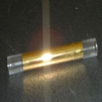 gold coated quartz tube
