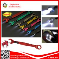 LED Light Ratchet Wrench, Gear Wrench, Combination Wrench, Spanner, Ratchet with LED Light