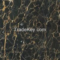 Black + gold stone