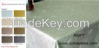 PW141-CWaterproof Brushed metallic table cloth , unique design table cloth, popular in south America