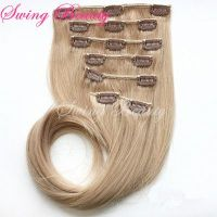 Clip in Natural Human Hair Extensions Double Drawn 100% remy hair