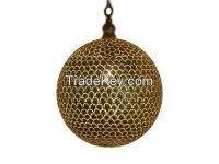 Handmade Moroccan Style Lamp In Brass