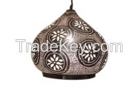 Moroccan Pendant Light in Silver or Gold