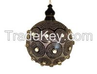 Brass With Glass Stones Moroccan Style Lamp