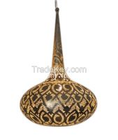 Unique Pendant-Shaped Moroccan Silver Plated Hanging Lamp