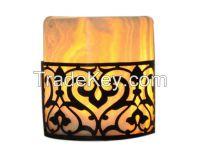 Egyptian Alabaster Lantern Candle Holders
