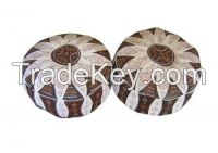 Moorish Leather Poufs Footstools