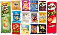 Lays, Doritos, Pringles, Raffles Potato chips for sale