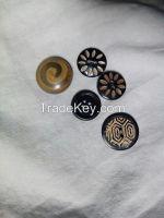 Real Horn Buttons/Fancy Four holes horn button for garment button, Coat, Jeans & Shirt