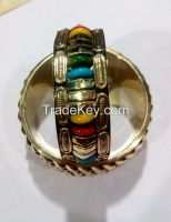 fashion marine style brass metal beads gold type artificial jewelry bengles