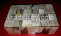 Jewelry box/Bulk supplier beautiful inlay, wood & bone jewelry storage box