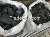 selling different kinds of charcoal