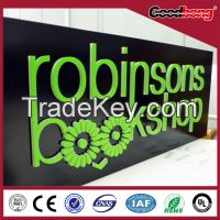 outdoor antiwind vacuum molding store signs, can be designed shapes