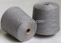 wool acrylic blended yarn in cone, RW & Dyed