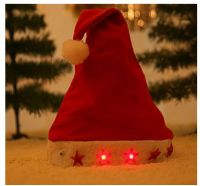 Good Sale Promotional LED Winter Christmas Hat With Flash