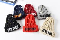 Hot Sale Cute Baby Colorful Stretch Wool Knitted Beanie Hat Warm Cap