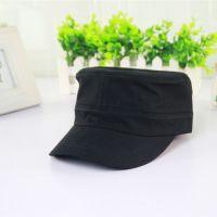 Plain Black Army Cap Custom Military Hat