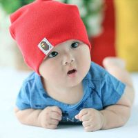 Pure Color Baby Slouchy Knitted Beanie Hat Winter Beanie