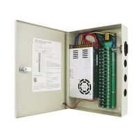 300W centralized power supply box for gate access control 18channels AC to DC power supply 18 output for CCTV camera