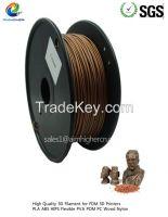 copper 3d metalic filament 1.75/3.0mm rubber consumables