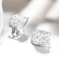Fashionable new style fashionable K gold wholesale European and American popular individual petals circular ear nail