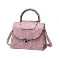 Hot sale of new leisure pure color PU fashion bag ladies handbag pack to provide customization