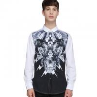 2017 autumn wear 3D printed long sleeve men's shirt