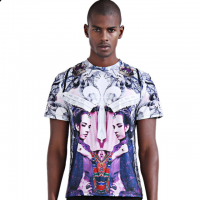 New fashion personality 3D printed short sleeve T-shirt