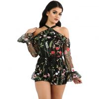 Hot sell fashionable sexy and sweet printing lady jumpsuit to provide customized wholesale