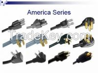 China supplier US 125v Standrad power cord