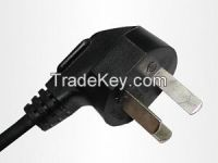China 250v Standrad 3pin power plug cord