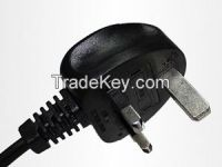 Britain England BSI1363/A 3 pin plug power wire / cable