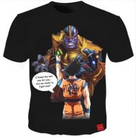 New Fashion Women/Men's 3D Print Thanos & Dragon Ball Super Goku T-Shirt