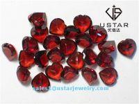 Ustar Jewelry Heart Cut Natural Garnet