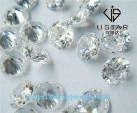 Ustar Jewelry Round Brilliant Cut White Transparent Cubic Zirconia