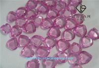Ustar Jewelry Heart Shape Pink Cubic Zirconia