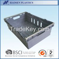 cheap mesh stackable plastic crate for fruit