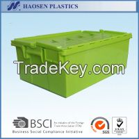 Cheap plastic moving box plastic tote box with lid