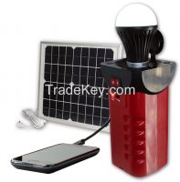 Portable Outdoor Solar Lantern with LED Lamp by solar energy