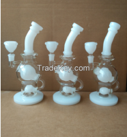 10inch new high qualitywhite colour  glass smoking pipe with egg perc