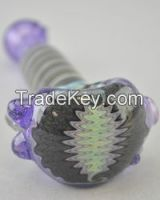 high quality glass hand pipe with bright colour