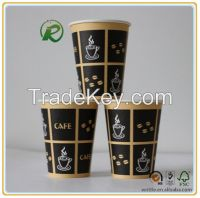 Disposable food grade paper coffee cups with custom logo