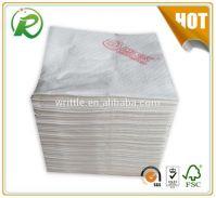 Disposable 30x30cm paper napkin logo printing