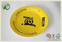 Disposable paper plates with custom printing